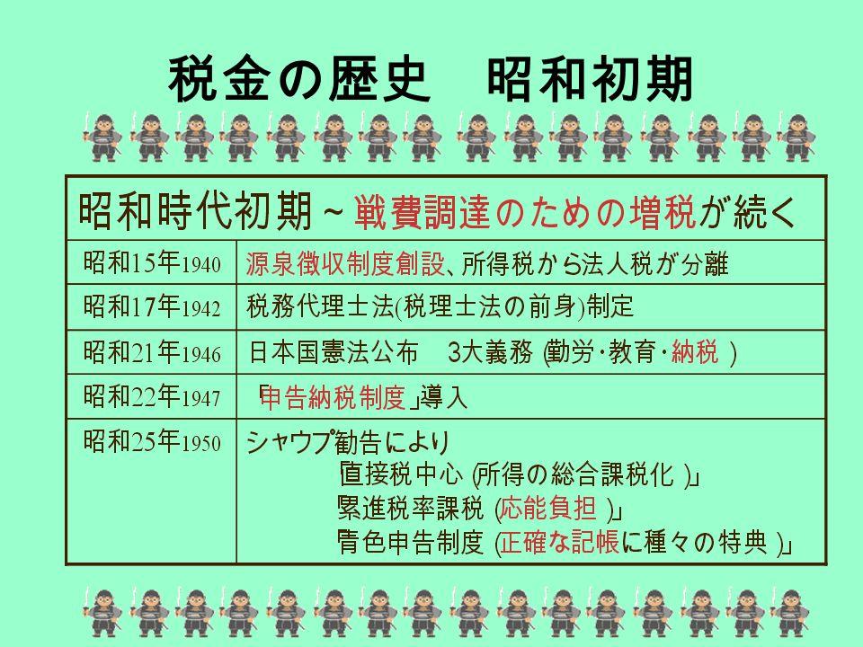 税金の歴史 昭和初期