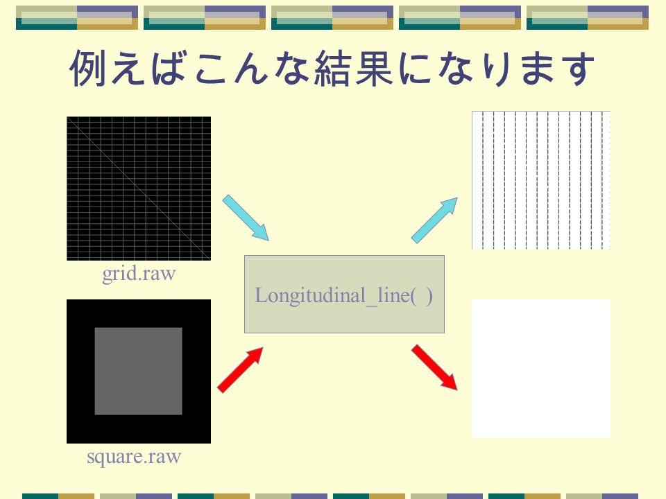 例えばこんな結果になります grid.raw Longitudinal_line( ) square.raw