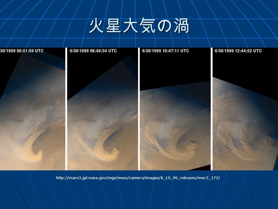 火星大気の渦 http://mars3.jpl.nasa.gov/mgs/msss/camera/images/8_10_99_releases/moc2_172/