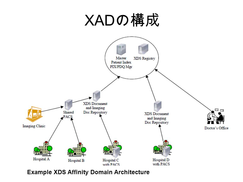 Example XDS Affinity Domain Architecture XAD の構成