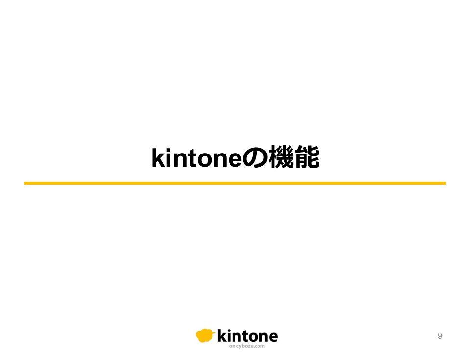 kintone の機能 9