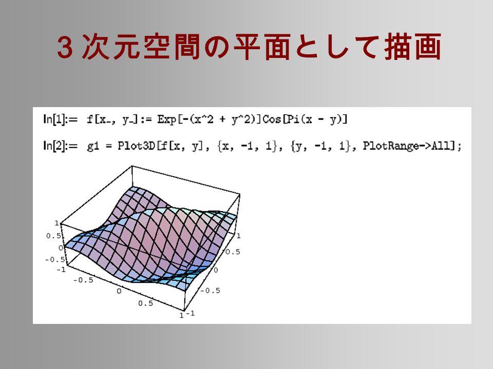 3次元空間の平面として描画