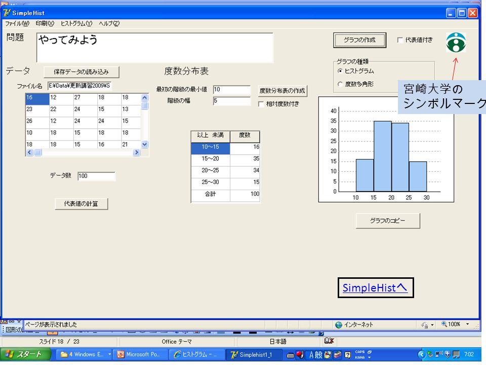 宮崎大学の シンボルマーク SimpleHist へ
