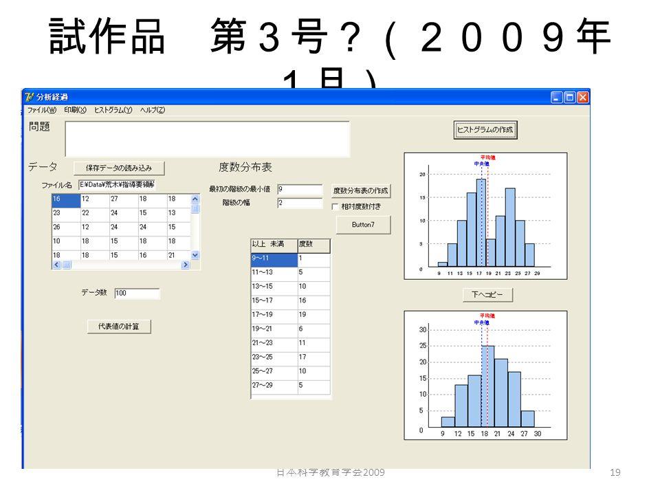 試作品 第3号?(2009年 1月) 日本科学教育学会 2009 19