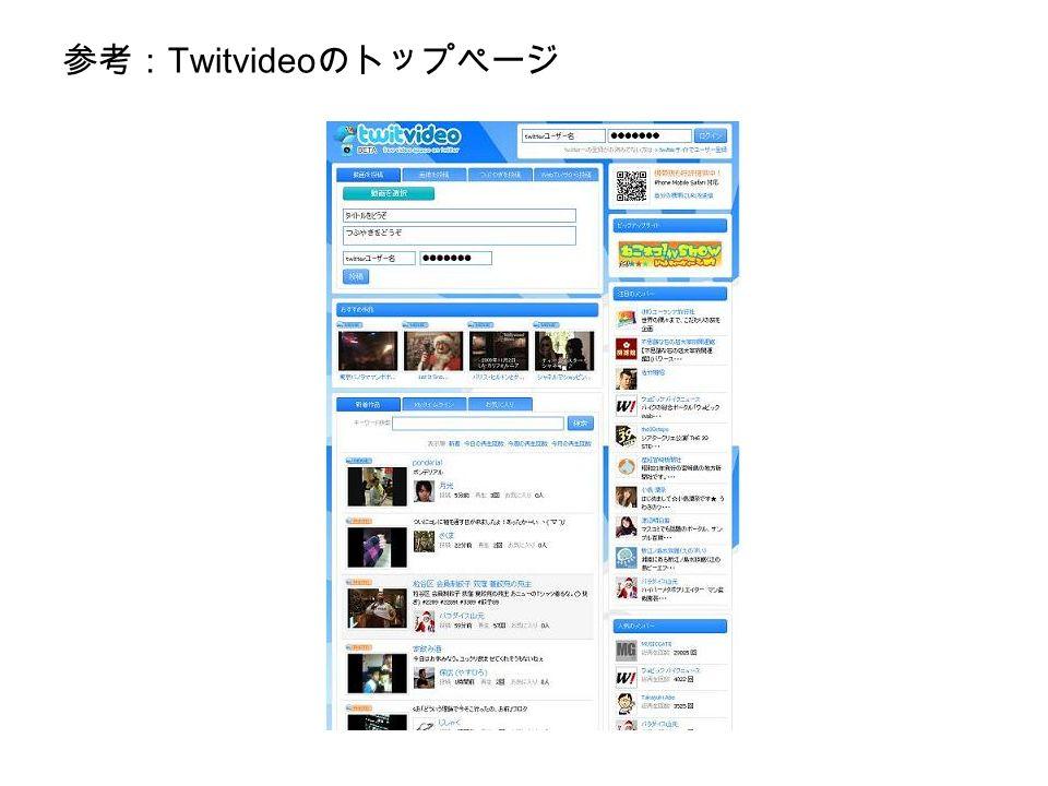 参考: Twitvideo のトップページ
