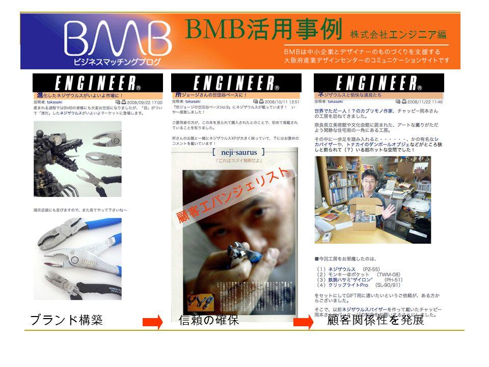 BMB 活用事例 株式会社エンジニア編 ブランド構築信頼の確保顧客関係性を発展 顧客エバンジェリスト