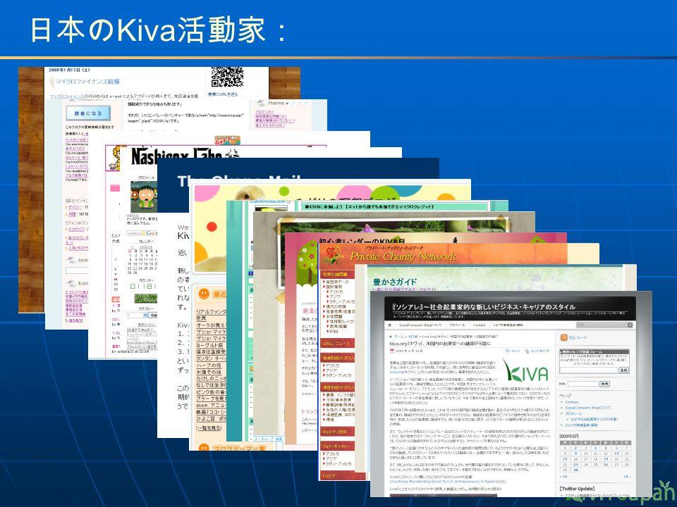 日本の Kiva 活動家: