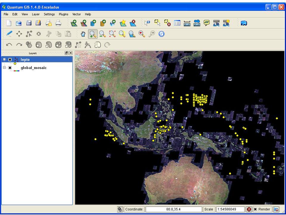 ベクターレイ ヤーを加える ファイルを選択 する WMS レイヤー を加える NASA の WMS サーバにつなぐ