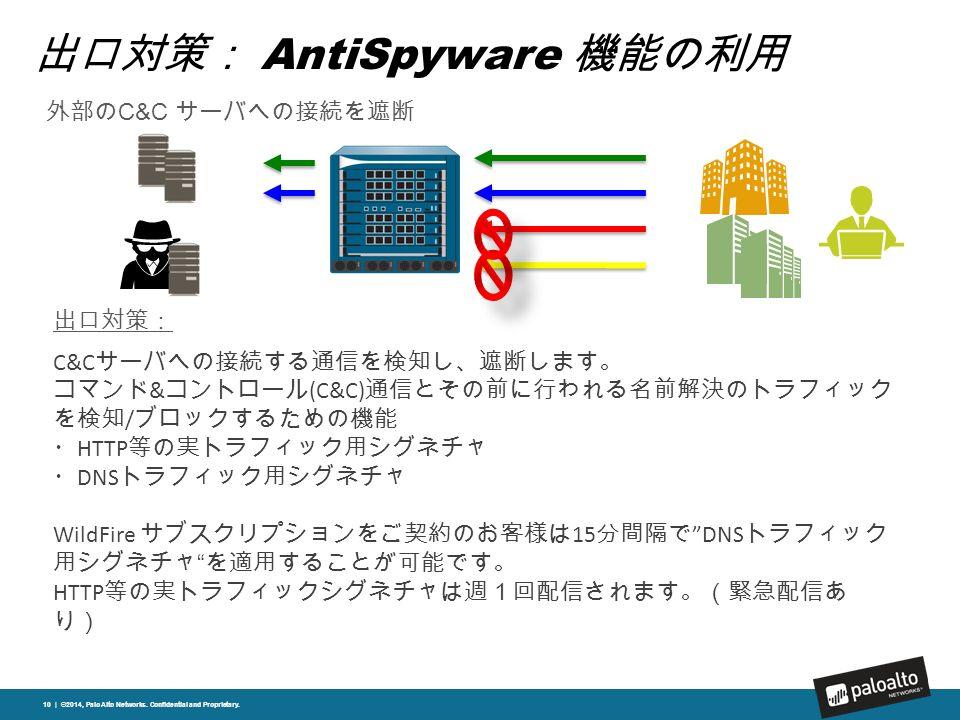 出口対策: AntiSpyware 機能の利用 10 | ©2014, Palo Alto Networks.