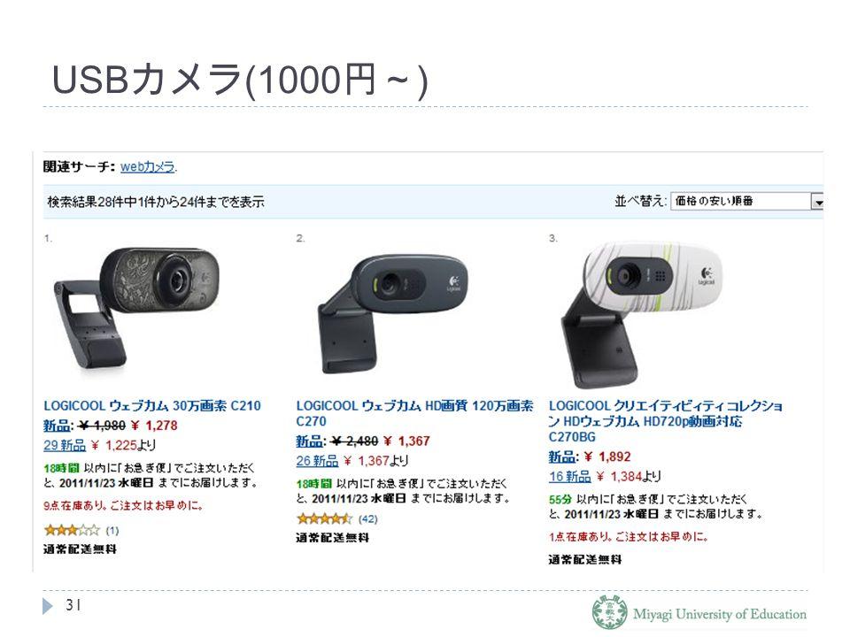 USB カメラ (1000 円~ ) 31