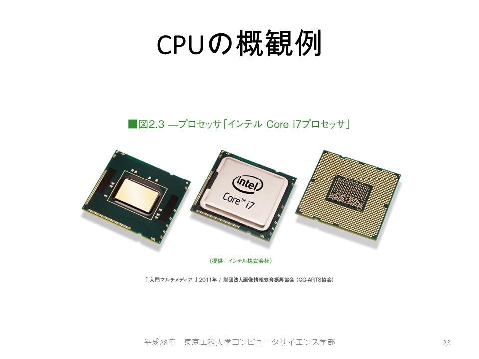 CPU の概観例 平成 28 年 東京工科大学コンピュータサイエンス学部 23