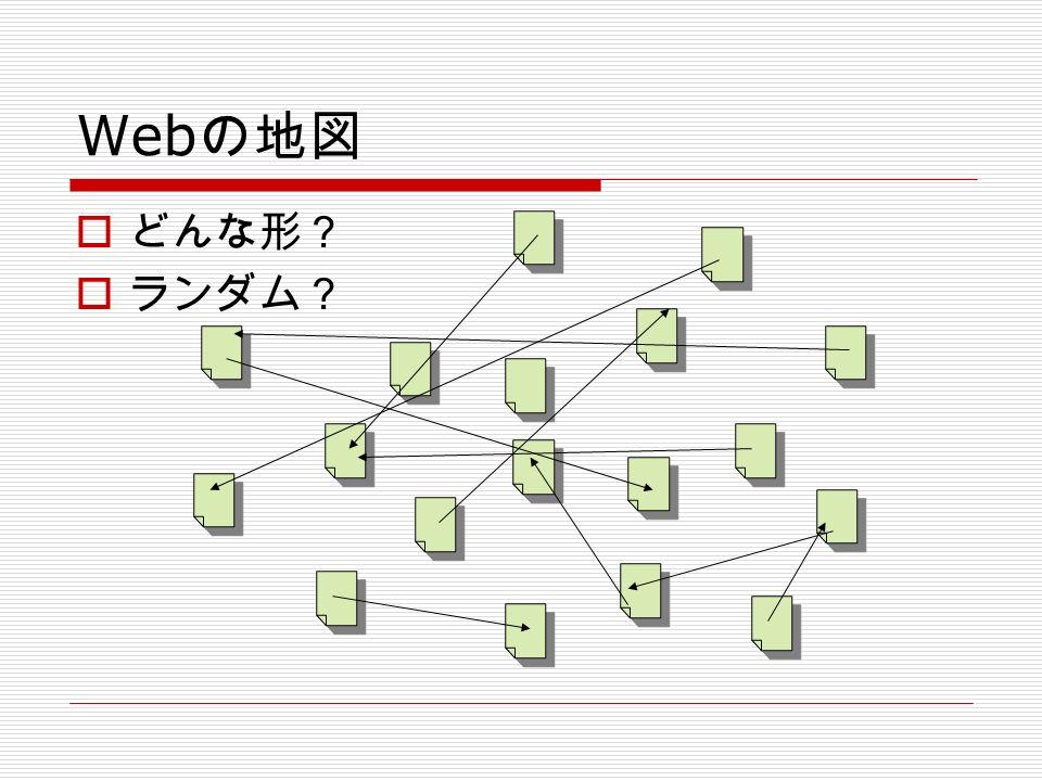 Web の地図  どんな形?  ランダム?