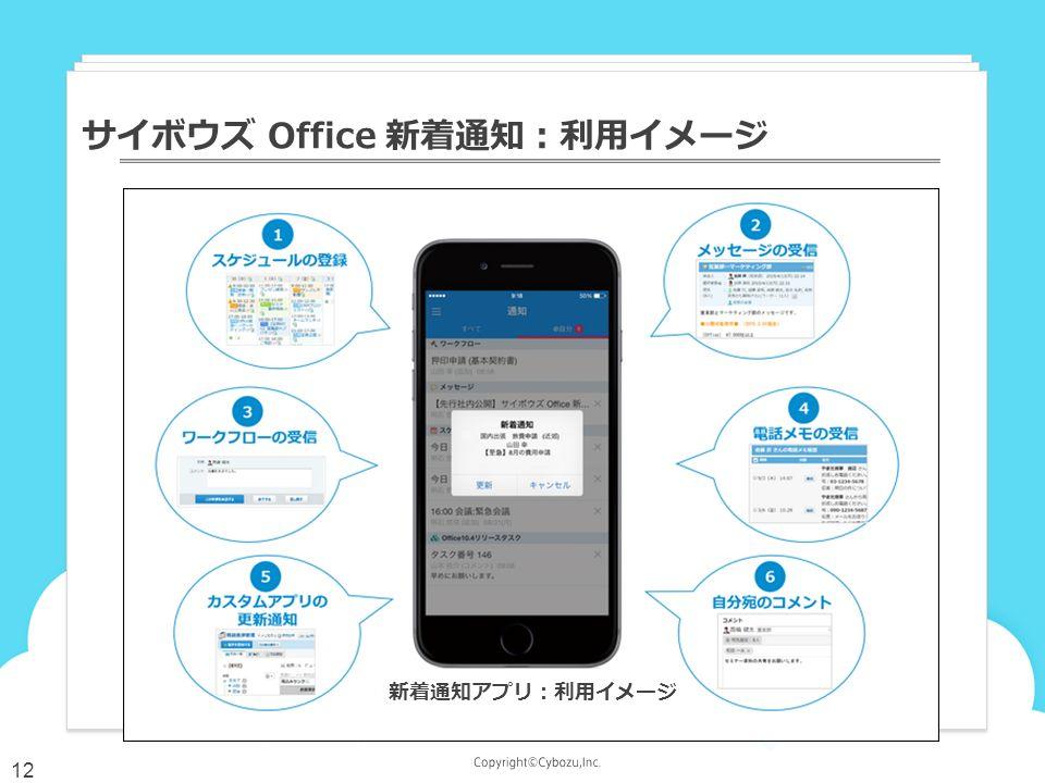 サイボウズ Office 新着通知:利用イメージ 12 新着通知アプリ:利用イメージ