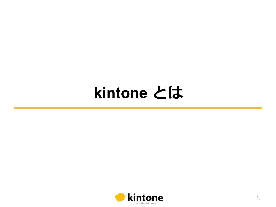 kintone とは 2