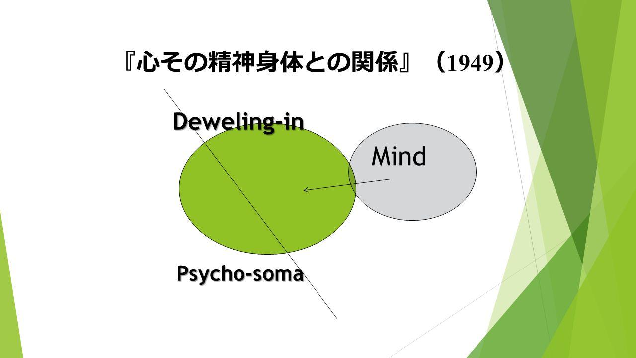 『心その精神身体との関係』( 1949 ) Psycho-soma Mind Deweling-in