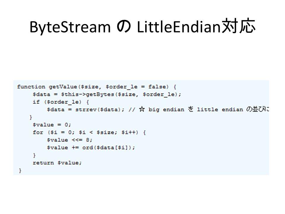 ByteStream の LittleEndian 対応
