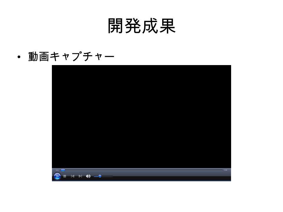 開発成果 動画キャプチャー