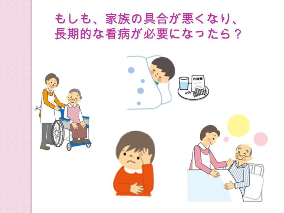もしも、家族の具合が悪くなり、 長期的な看病が必要になったら?