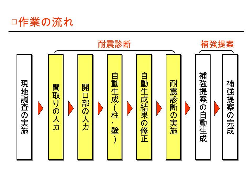 □ 作業の流れ 耐震診断補強提案