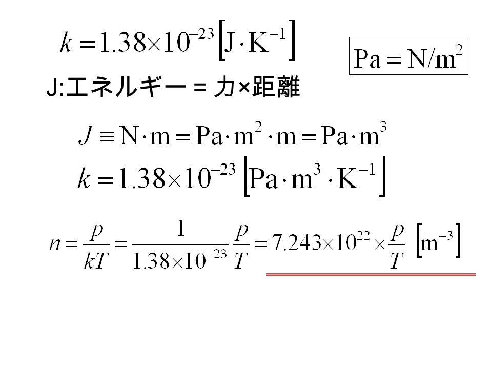 J: エネルギー=力 × 距離