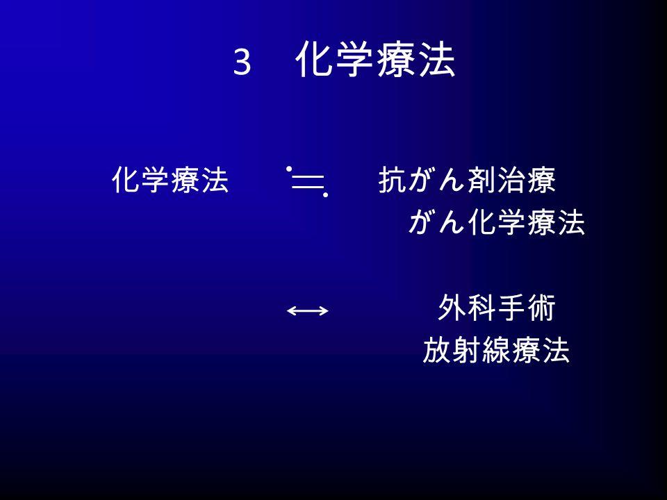 3 化学療法 化学療法 抗がん剤治療 がん化学療法 外科手術 放射線療法