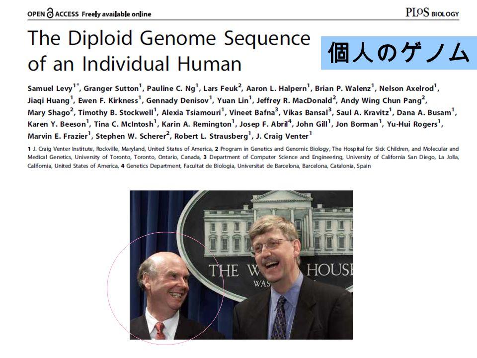 個人のゲノム