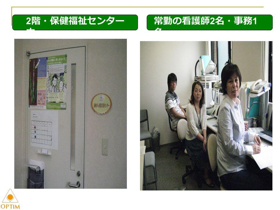2 階・保健福祉センター 内 常勤の看護師 2 名・事務 1 名