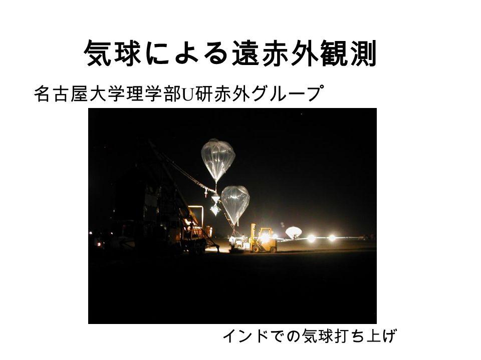 気球による遠赤外観測 名古屋大学理学部 U 研赤外グループ インドでの気球打ち上げ