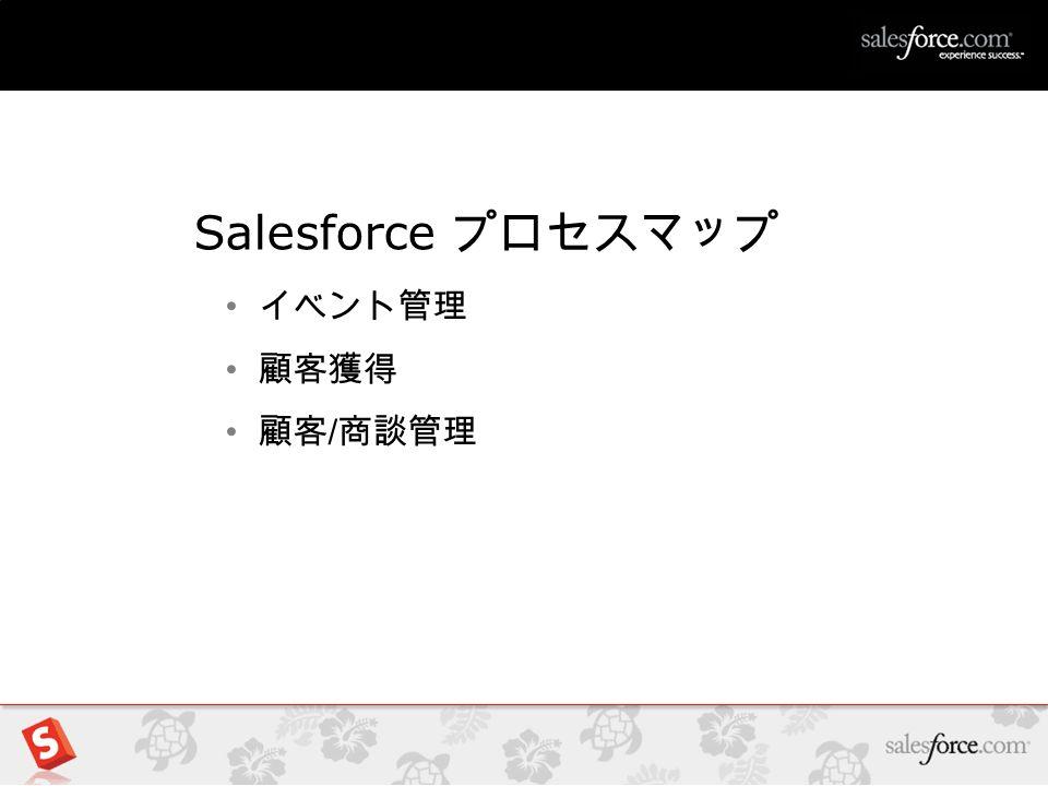 1 Salesforce プロセスマップ イベント管理 顧客獲得 顧客 / 商談管理