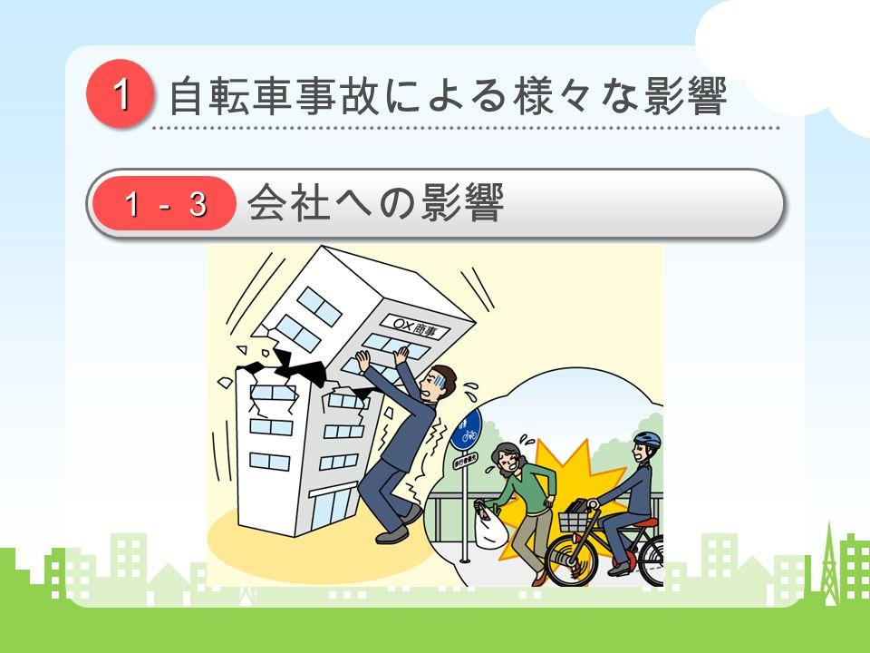 11 自転車事故による様々な影響 1-3 会社への影響