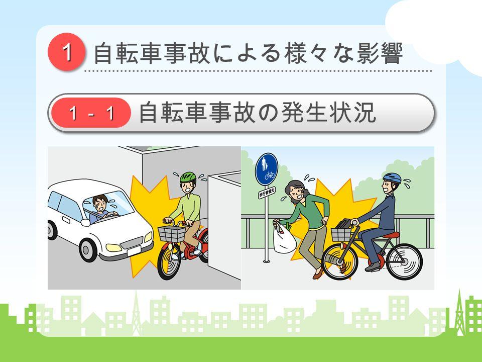 11 自転車事故による様々な影響 1-1 自転車事故の発生状況