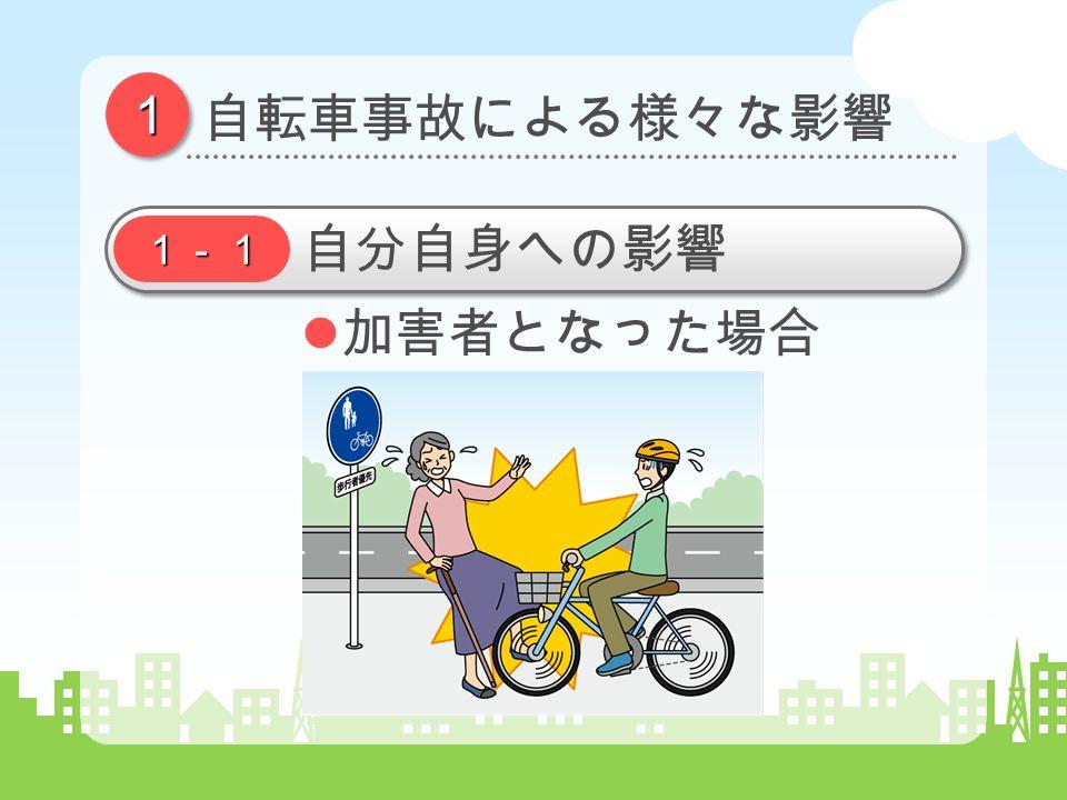 11 自転車事故による様々な影響 1-1 自分自身への影響 加害者となった場合