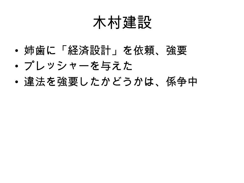 木村建設 姉歯に「経済設計」を依頼、強要 プレッシャーを与えた 違法を強要したかどうかは、係争中