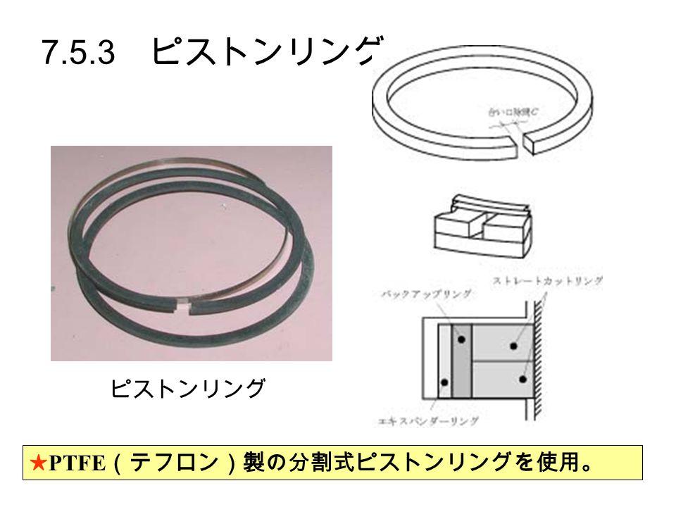 7.5.3 ピストンリング ★ PTFE (テフロン)製の分割式ピストンリングを使用。 ピストンリング