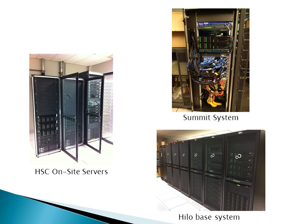 HSC On-Site Servers Hilo base system Summit System